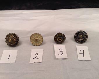 Assorted vintage reclaimed cabinet or drawer hardware knobs