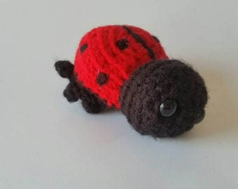Crochet Ladybug, Stuffed Animal Ladybug, Mini Plush Ladybug, Kids Birthday Gift, Woodland Bug Animal Toy, Gifts under 30, Amigurumi Ladybug
