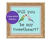 Be My Tweetheart Cross St...