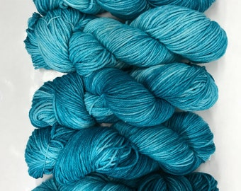 Hand dyed yarn/ blue tourmaline