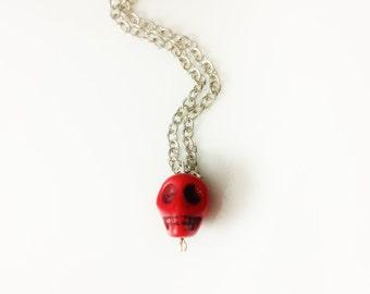 Skull Necklace - Red Teen Girl Tween Women Jewelry Sale Jewelry Trending Now Teen Jewelry