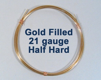 Gold Filled Wire - 21ga HH Half Hard - Choose Your Length