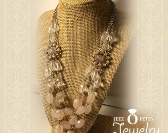 Vintage Necklace waterfall of beadlets