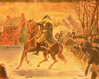 1957 General George Washington Matted Vintage Print