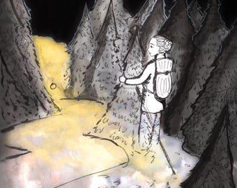 Vanishing Hitch-hiker (print)