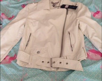 M&s white jacket 6