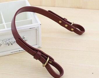 1 Pcs Adjustable Leather Purse Strap, Antique Brass Metal Clasps Bag Strap, Shoulder Purse Handle, Hand Strap, Leather Belt, Handbags Supply