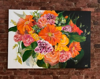 34x48 Custom Bouquet Painting