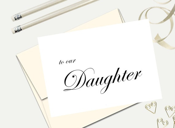 To our Daughter wedding day cards wedding engagement cards