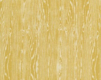 1 yard Joel Dewberry - Aviary 2 - Woodgrain in Vintage Yellow JD42