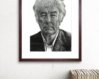 Seamus Heaney - Irish Poet illustration print