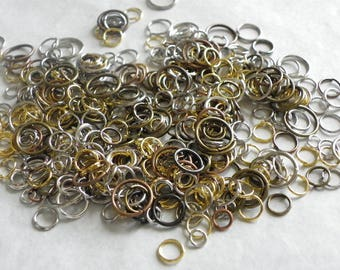 mix silver, bronze rings, 4 mm copper has 16 mm assorted 30gr
