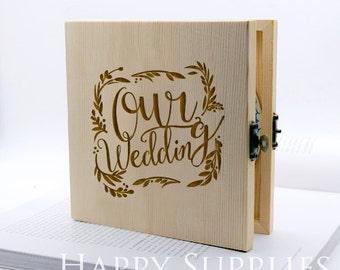 Custom CD Box, Personalised Wooden DVD Case - Wedding CD Music Video Wedding Photographs (CD01)