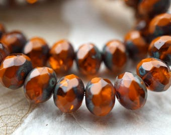 Rustic Pebbles, Rondelle Beads, Czech Beads, N2322