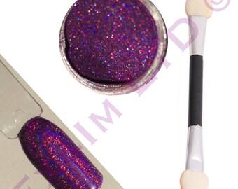 Purple Holographic Glitter Holo glitter Laser glitter unicorn glitter for nail art body art  and DIY 2017 Nail Trend