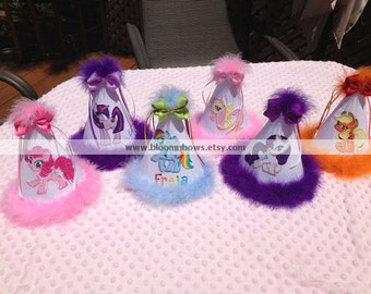 Personalized My Little Pony Birthday Party Hat - you pick the pony