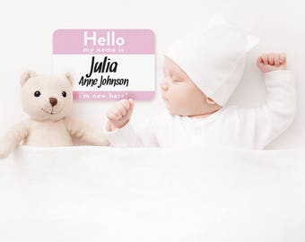 baby name announcement card