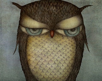 The Owl - Art print (3 different sizes)