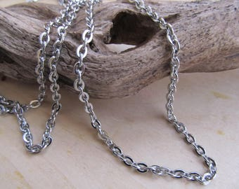 fancy stainless steel chain 50 cm solid 5X3.5mm phthalate.