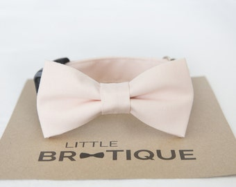 Blush/Petal Dog Bow Tie Sent 1-3 business days after you order