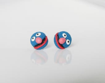 Muppet Show - Grover - new handmade lightweight earrings