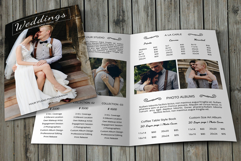 Professional Photographer Brochure Template Wedding
