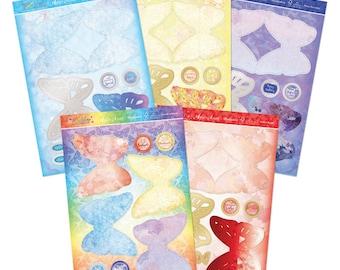 Sparkling Wings Easel Card KIT - Flutterbye Rainbow Sparkling Wings Easel Card Kit - Hunkydory Butterfly Easel Card Kit - Butterfly - 10-036