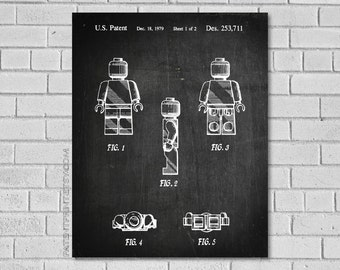 Legoman Patent Print Legoman Patent Print, Lego Poster, Lego Patent, Lego Blueprint, Lego Art, Lego Print, Lego Decor, Lego Artwork ET711-1