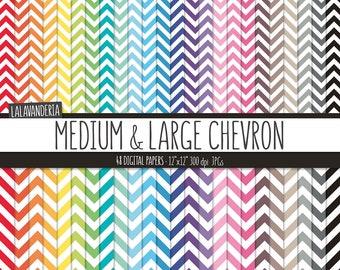 Rainbow Chevron Digital Paper Pack. Colorful Zig Zag Lines Backgrounds. Printable Geometric Patterns. Digital Scrapbook Papers