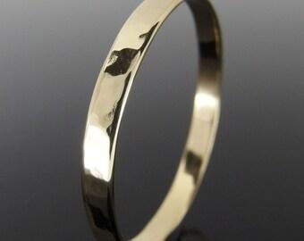 18k Gold Wedding Ring, Hammered 18k Gold Wedding Band, 18k Gold Wedding Ring, 18k Gold Ring, 2.5 mm or 3 mm