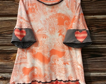 CUSTOM order a Unique Women's Tunic Top Made w/ Upcycled Clothing Heirloom Keepsake Holiday Everyday. All colors - Size XS - XXL - Order Now