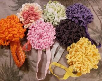 Girls crochet headband