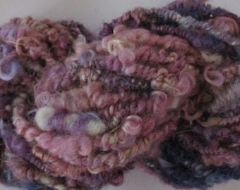 Coiled Wensleydale Purple Shades Yarn for Doll Hair
