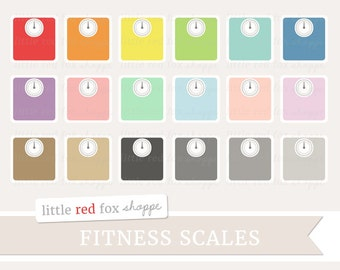 Scale Clipart, Fitness Scale Clip Art Bathroom Scale Weight Loss Health Workout Work Out Cute Digital Graphic Design Small Commercial Use