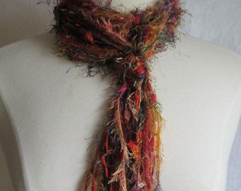 The Knotty Scarf in The Colors of Fall