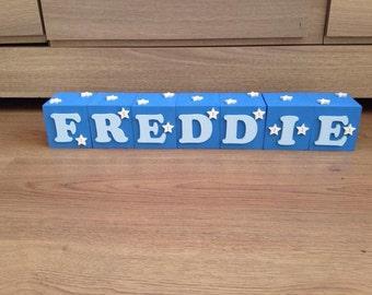 Personalised Wooden Name Blocks
