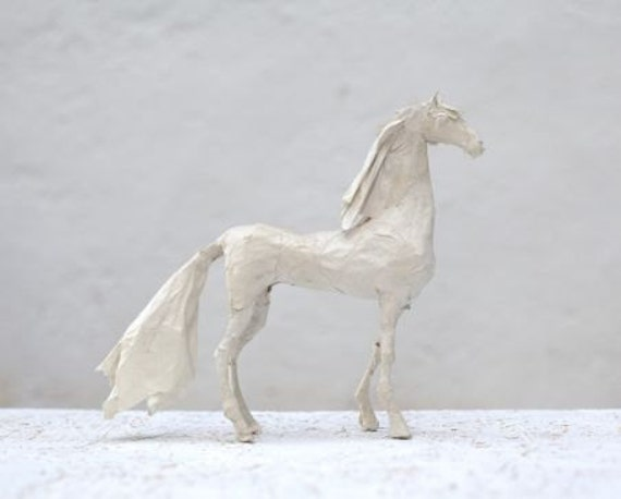 Paper mache horse horse figurine easter gift horse white paper mache horse horse figurine easter gift horse white sculpture paper mache animal wedding gift white horse figure paper horse negle Images
