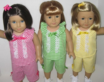 Springin' for Gingham - Top and Capri Pants for 18-Inch Doll