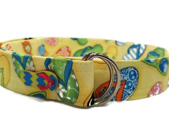 Girl's Flip Flop and Sunglasses Print Fabric Belt