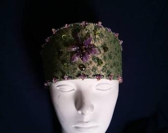 Green/ Gold Headband