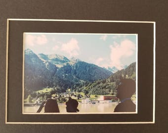 European Mountains photo, 8x10 black mat photo