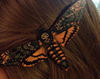 Deaths Head Moth Hair Clip Gorgeous Silence of the Lambs