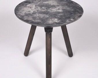Moon Collection | Side Table in Dark Grey, Concrete Table, Moon Table, Lunar, NASA, Eclipse