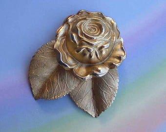Vintage 70s Napier Rose Floral Pin