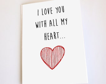 Naughty greeting card, Valentine's Day, Anniversary, Birthday, Funny