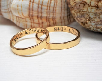 Personalized 14k Band Hand Forged Yellow or White Gold 3mm Wedding Band SPECIAL OFFER Receive 15% Discount on Purchase of Set of Two Bands