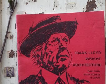 Frank Lloyd Wright Architecture Book..Phamplet.. Library..Softcover.. Houses..Oak Park Illinois.. Designs..