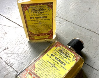 1912 Dr. Vanier's Irish Bandoline For Smoothing & Glossing The Hair- Vintage Hair Gel - Irish Moss - Natural Gentleman's Hair Grease