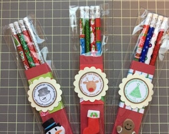 Christmas Pencil and Eraser Packs Stocking Stuffers