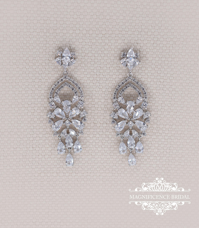 Wedding earrings bridal earrings chandelier earrings cz wedding earrings bridal earrings chandelier earrings cz earrings bohemian earrings bridal chandelier earrings bohemian earrings emma mozeypictures Image collections